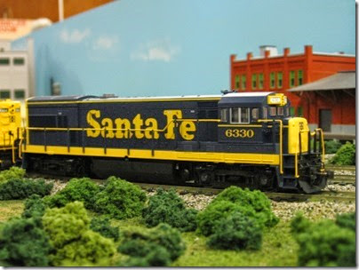 IMG_5376 Atchison, Topeka & Santa Fe U30B #6330 on the LK&R HO-Scale Layout at the WGH Show in Portland, OR on February 17, 2007