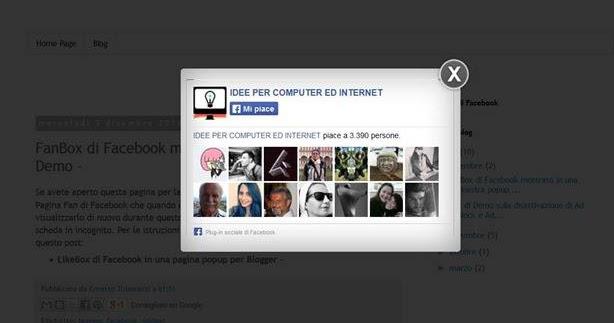 Like box di facebook che si apre in una finestra popup idee per computer ed internet - Creare finestra popup ...