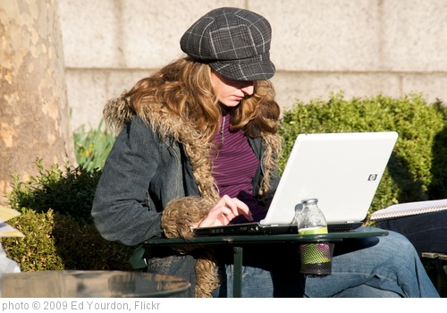 'One of the rare non-Apple laptops seen in an otherwise cool park full of cool people' photo (c) 2009, Ed Yourdon - license: http://creativecommons.org/licenses/by-sa/2.0/
