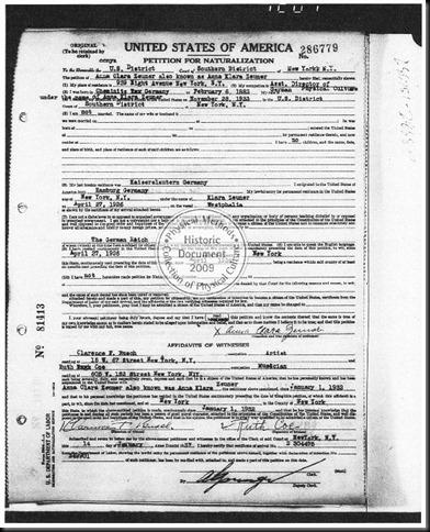 pedido de cidadania de Clara