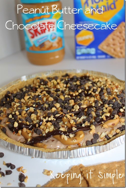 #ad Peanut-Butter-and-Chocolate-Cheesecake #PBandG