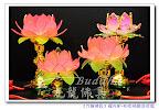 【精緻粉紅蓮花燈】迷你可愛的11公分和14公分-可放置於神明桌及祖先桌上歐~