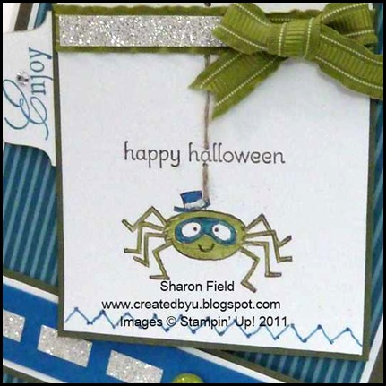 youre_a_gem, kidoodles, halloween, kids, spider, island_indigo, faux_stitching, in_color, silver_glimmer_paper, brads, lucky_limeade, udi51, sharon_Field, Createdbyu_Blogspot