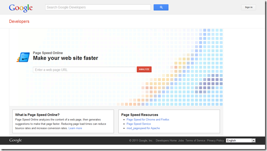 Test Your Website&#39;s Speed - Page Speed Online &#8212; Google Developers