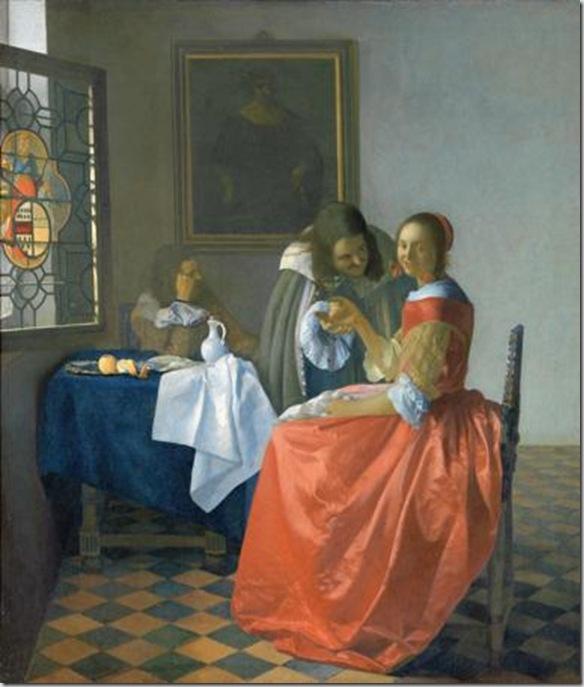 Giovane donna con bicchiere di vino, 1659 – 1660 ca. - Herzog Anton Ulrich-Museu, Braunschweig