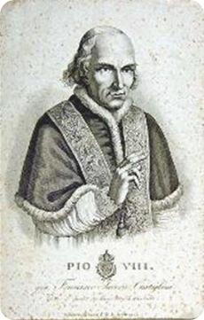 Pio VIII (Stampa. Museo Centrale del Risorgimento)