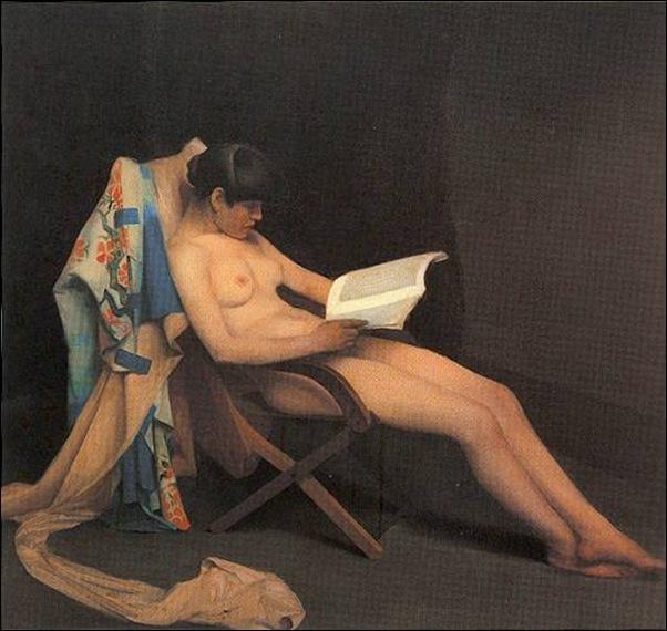 Théodore Roussel, jeune fille lisant