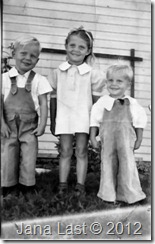Jan Albert Iverson and Siblings Circa 1940