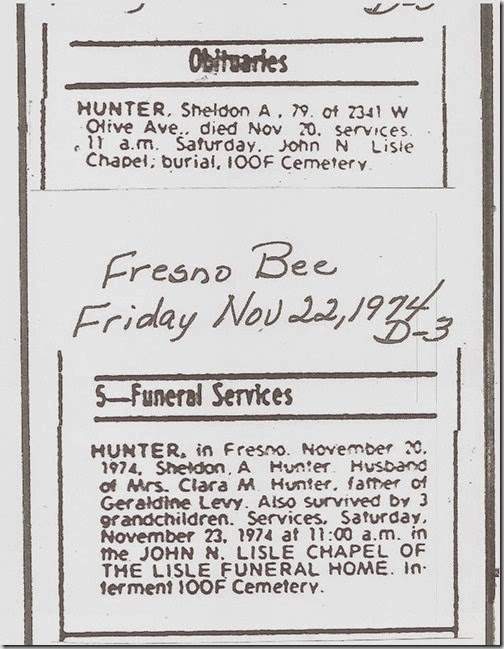 Shell Hunter Obit