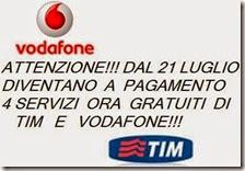 Disattivare i servizi Vodafone e Tim