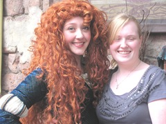 Disney trip closeup merida and katie