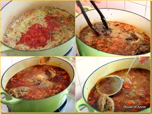 Braised Lamb Shanks with Tomatoes