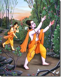 Rama and Lakshmana in the forest