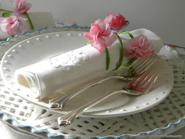 Paper Napkin Flowers - Spring Napkin Rings