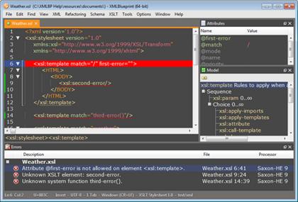 XML Blueprint Editor for Windows