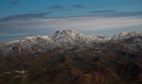 Snow on Tucson Mountains