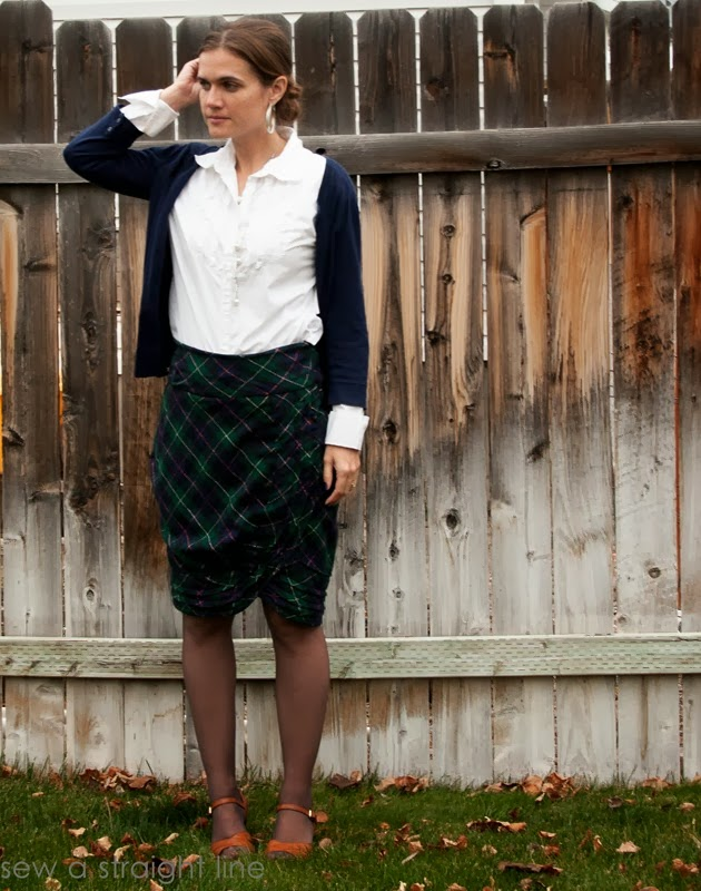 wool plaid skirt refashion sew a straight line-11