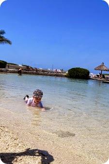 Nolan in the Resort Lagoon