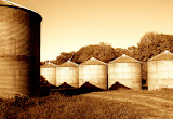 """Grain Bins"" - copyright Justin Hamm"