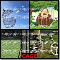 CAGE- 4 Pics 1 Word Answers 3 Letters