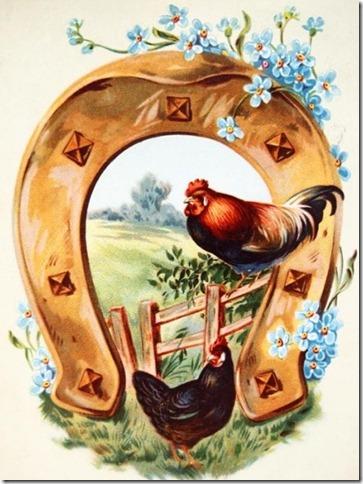 vintage hen postcard