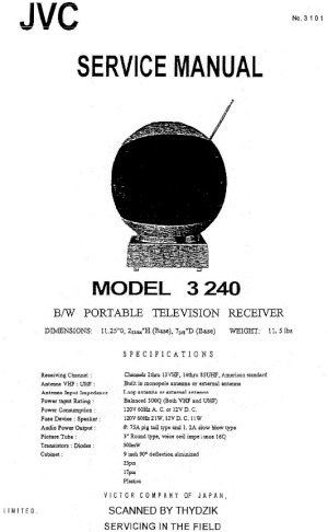 JVC Videosphere Model 3240 Service Manual