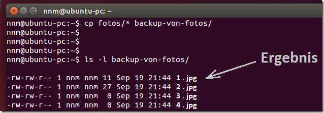 linux dateien kopieren