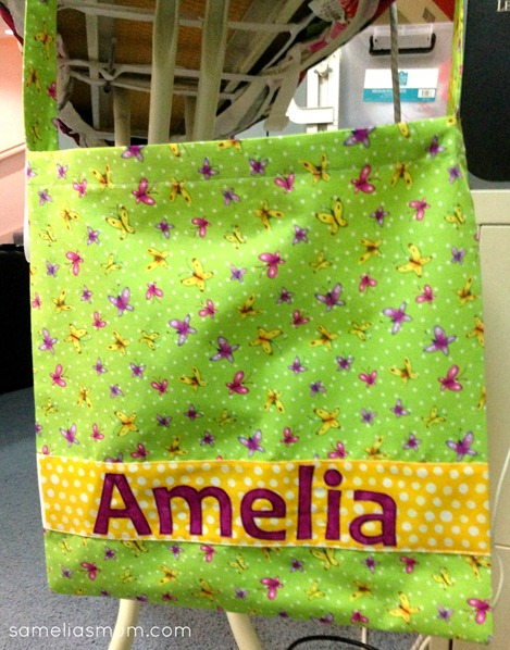 Library Bag with Applique name