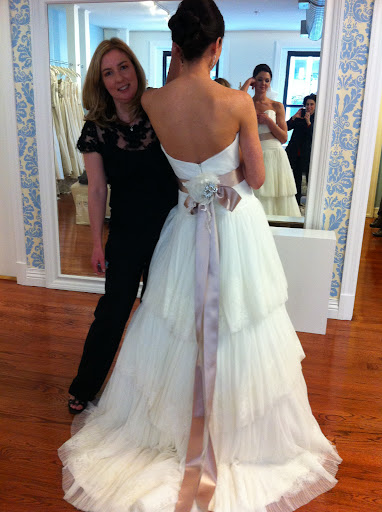 Here, Callie Tein, Modern Trousseau's designer, along with my favorite dress!