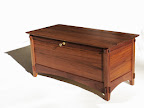 Arts and Crafts style hope chest from walnut