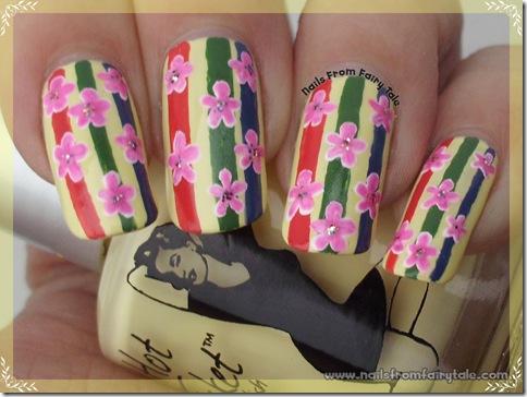 flowers on stripes 3