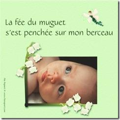 Faire-part de naissance muguet et fée felt vert
