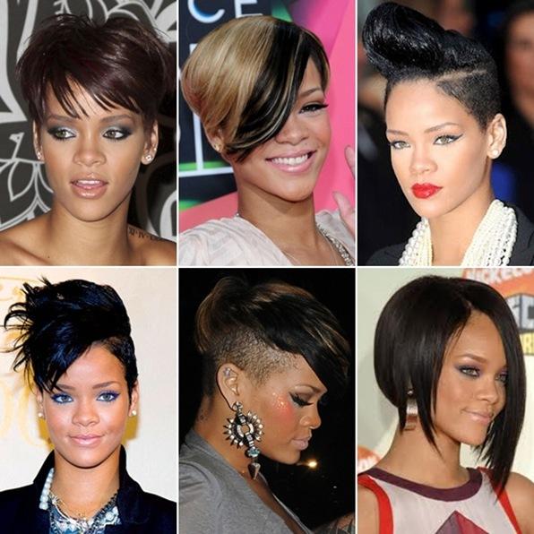 cortes curtos da Rihanna