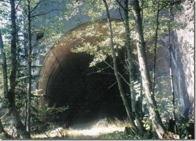 East Portal of the Windy Point Tunnel on the Iron Goat Trail in 1998