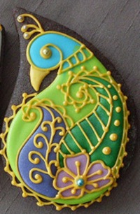 peacock cookie by Montreal Confections