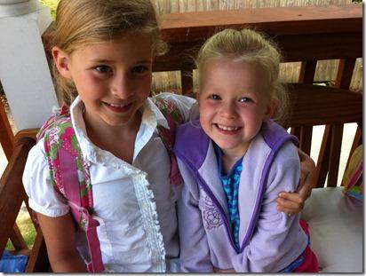 Celebrating Lexa's first day of Preschool at St Marks!