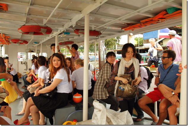 Boat scene on Chao Phraya River