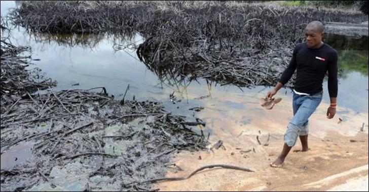 derrame de petróleo na nigéria