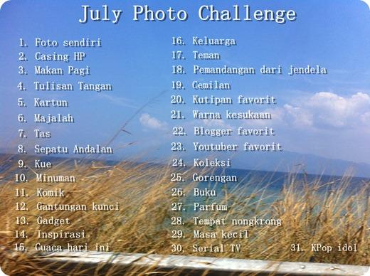 July Photo Challenge