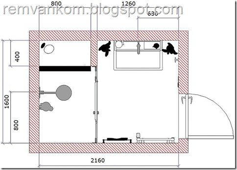 ремонт ванных  комнат квартир 12