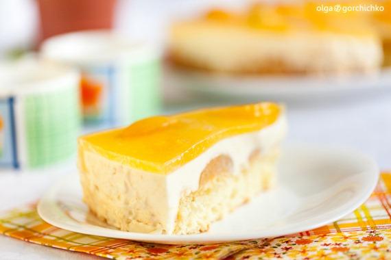 Торт с маскарпоне и абрикосами