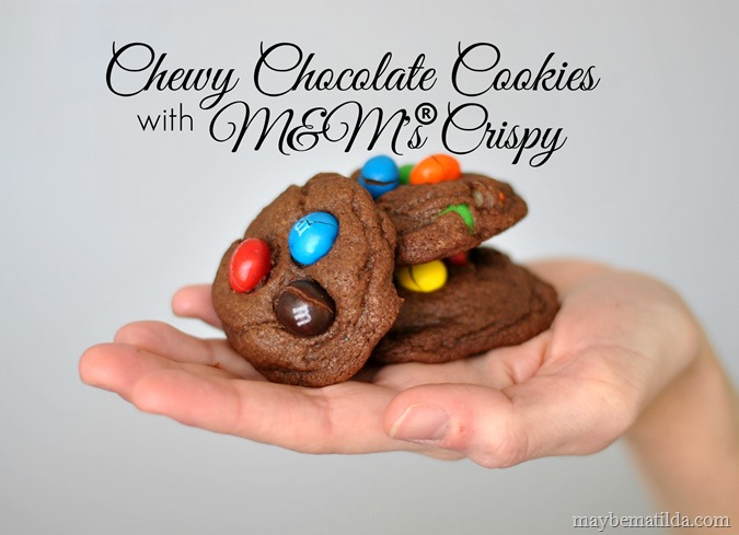 Chewy Chocolate Cookies with M&M's® Crispy