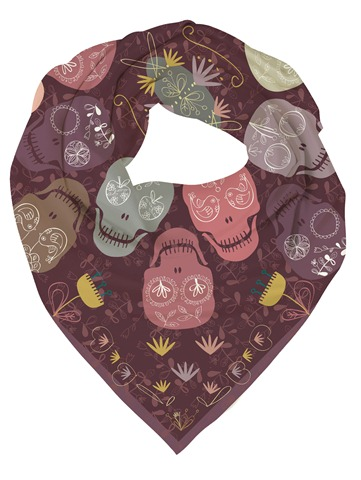 scarf mock up sweet skulls
