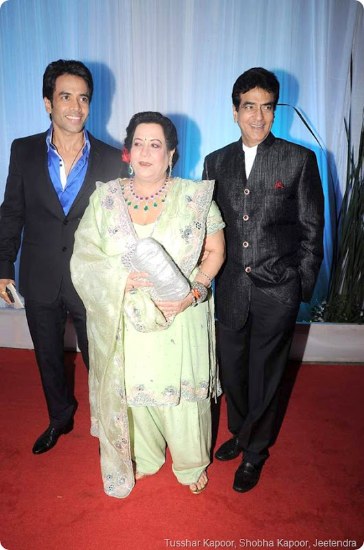 Tusshar Kapoor, Shobha Kapoor, Jeetendra