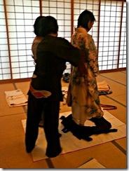 袴の他装着付け練習 (7)