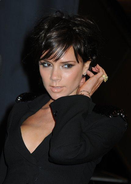 Victoria Beckham's Hairstyle - black short hairstyle for women