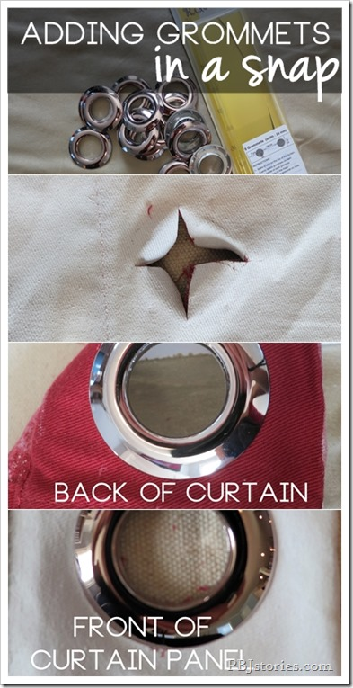 how to add grommets to a curtain panel