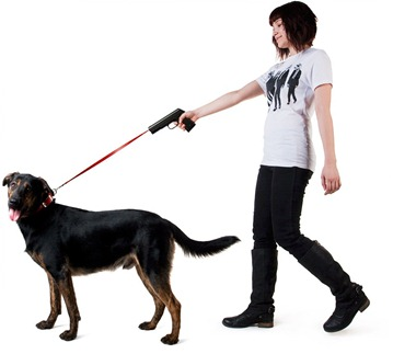 dog lead gun