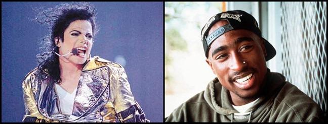 Michael Jackson e Tupac Shakur