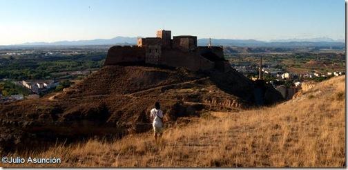 Castillo de Monzón desde el cerro de Santa Quiteria